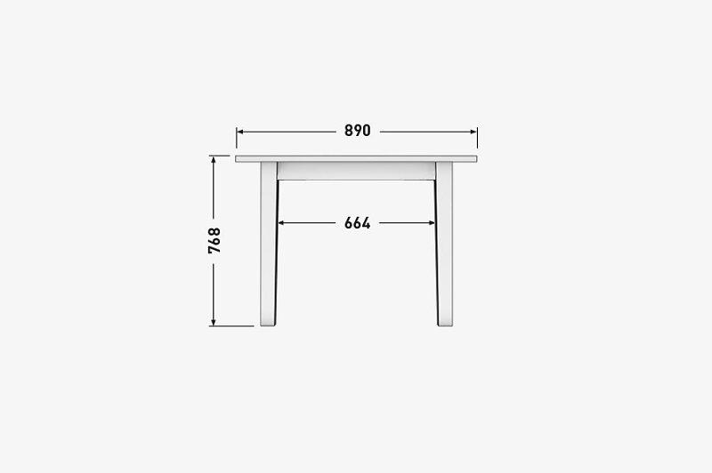 Solenn design tisch knorke 04 technische zeichnung front for Tisch organizer design